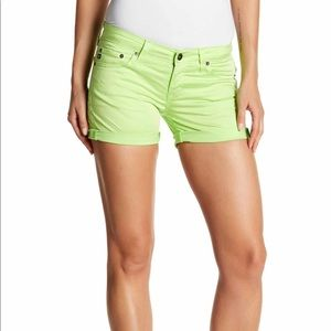 Big Star - Remy Low Rise Shorts lime  / 31